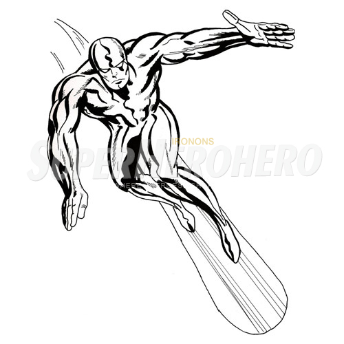 Custom Silver Surfer Iron on Transfers (Wall & Car Stickers) No.7557